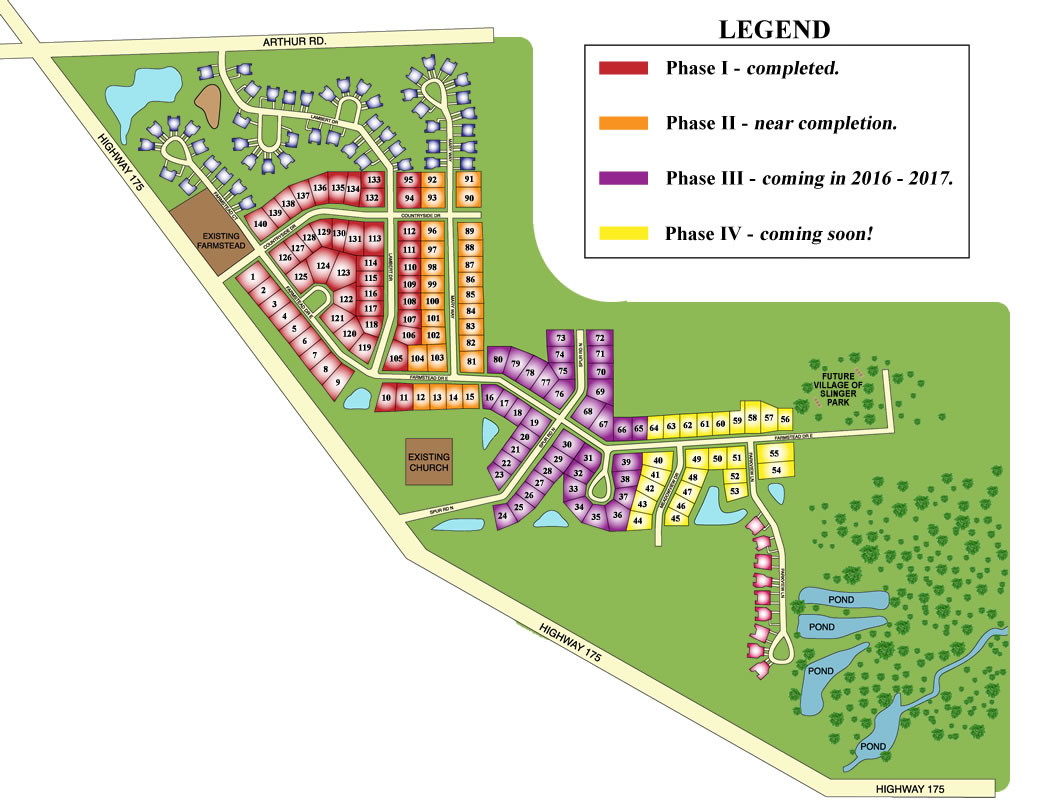 Farmstead Creek Subdivision Map rev 08-2016